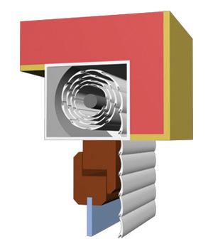 Venkovní rolety pro montáž s oknem